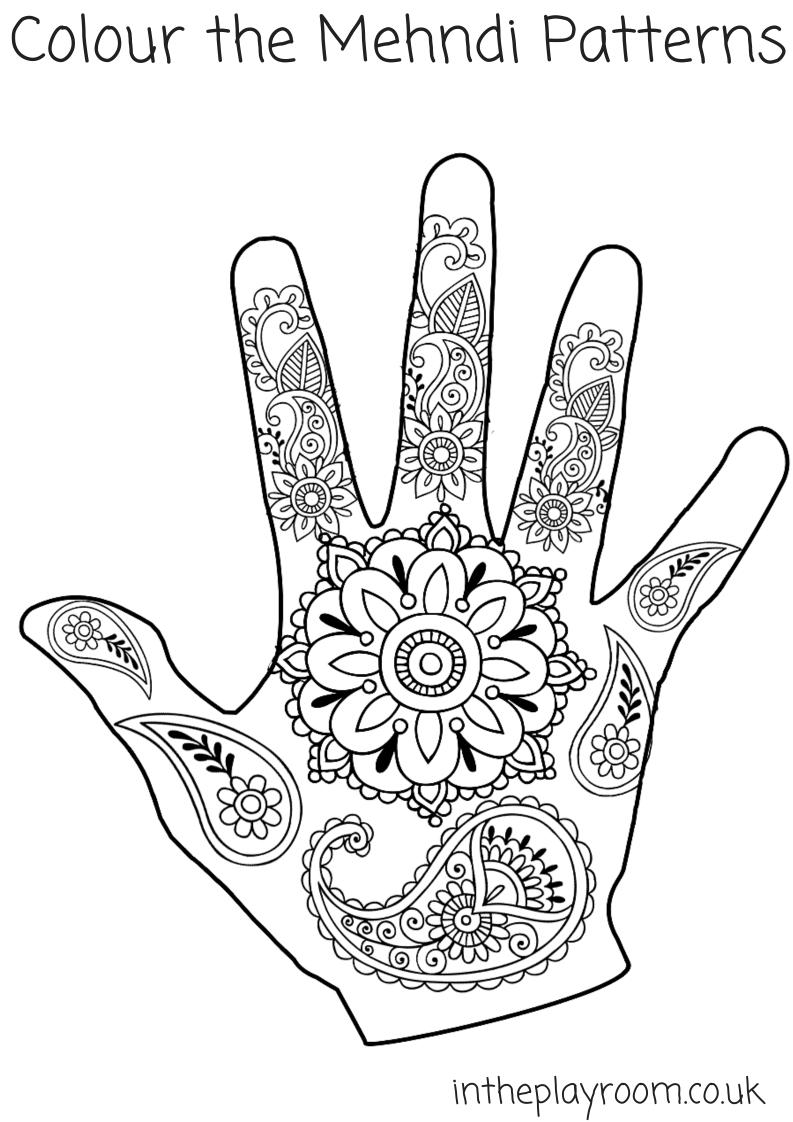 793x1122 Mehndi Hand Colouring Pages Mehndi Designs, Mehndi And Social