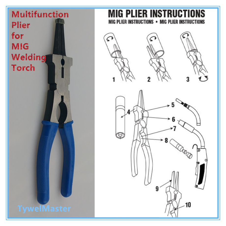 921x921 8 Multifunction Plier For Mig Welding Torch Nozzle Spatter
