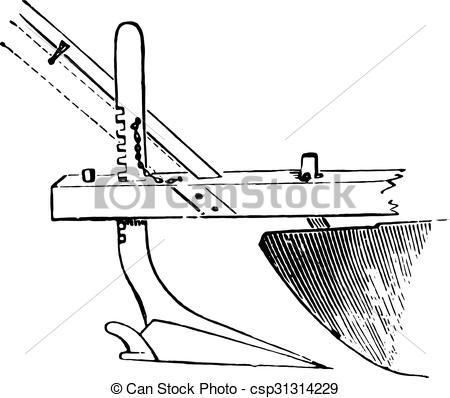 450x398 Appendix Or Plow Under The Chisel Plow Grignon, Vintage Engraving