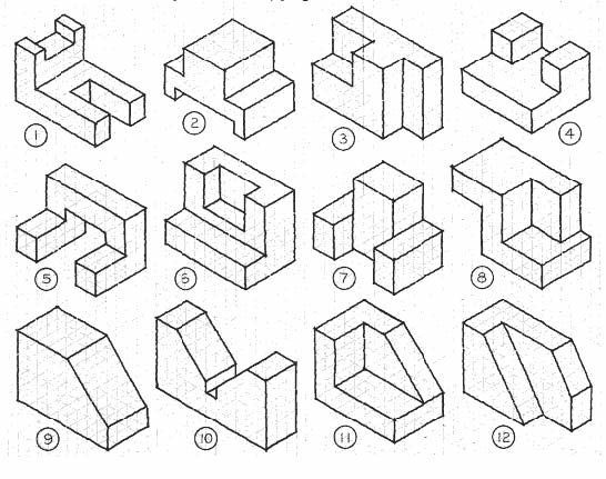 546x431 Isometric Drawings Worksheet