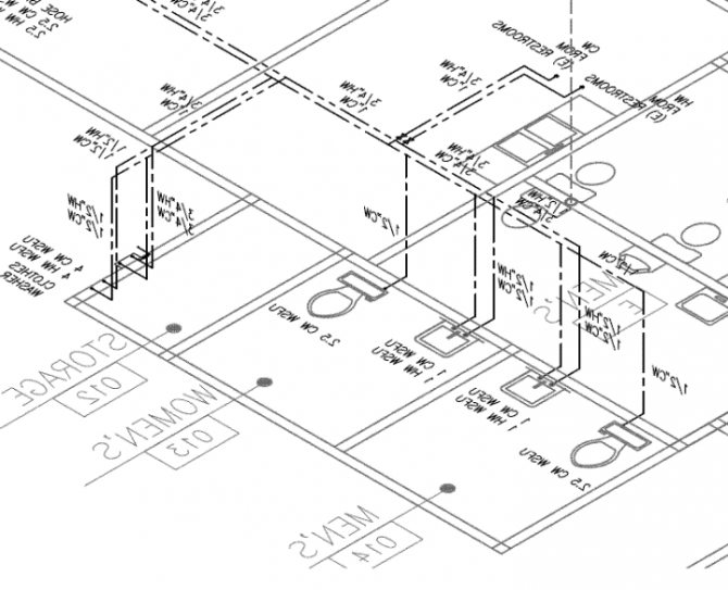 670x543 Mikelbank Engineering ( Isometric Drawing Plumbing