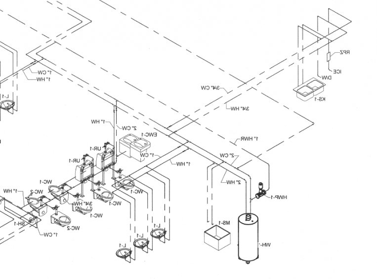 763x565 Png Water Riser.png (Ordinary Isometric Plumbing Layout