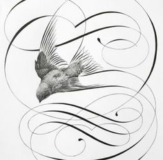 236x232 Calligraphy And Drawings Artwork Made With Plume Calligraphy