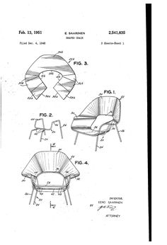 236x346 Eames Molded Plywood Stretcher Patent Drawings Chair Models