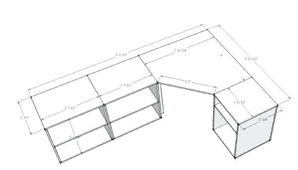 600x343 Corner Desk Plans Attractive Corner Desk Plans Woodwork