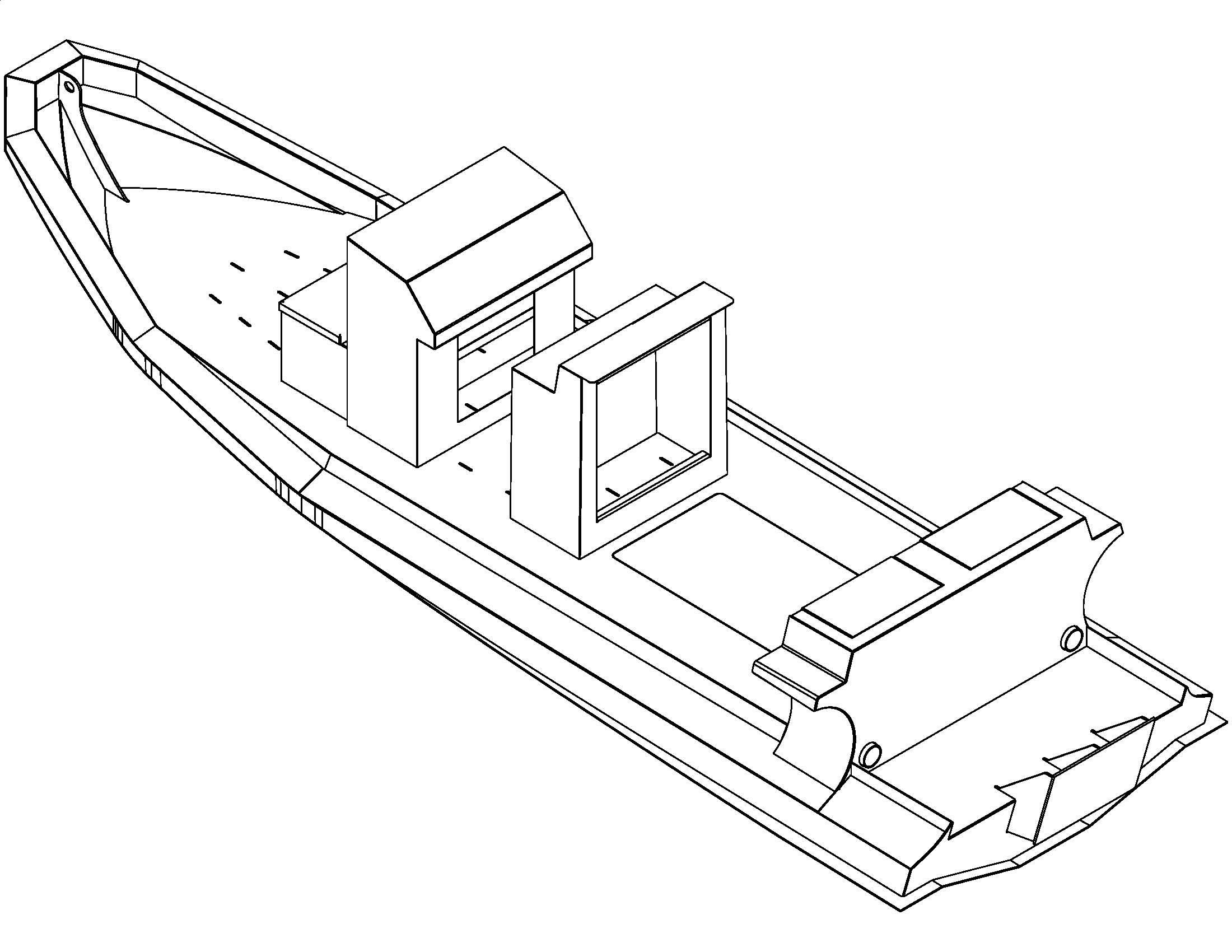 Pontoon Boat Drawing At Free For Personal Use Crestliner Wiring Diagram 2200x1700 Aluminum Rib Plans