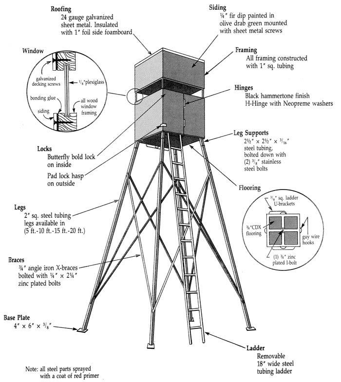 700x784 4x4 Texas Porch Blind W Tower Advantage Outdoor