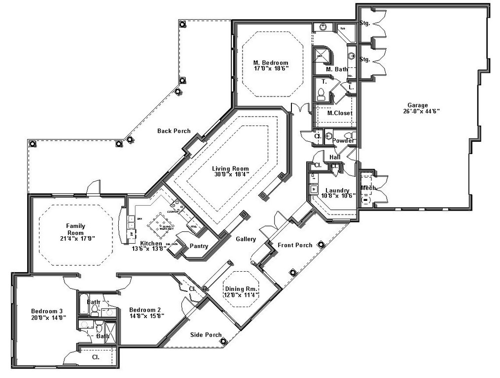 1014x768 Floor Plan Design Open Plans With Wrap Around Porch Indian House
