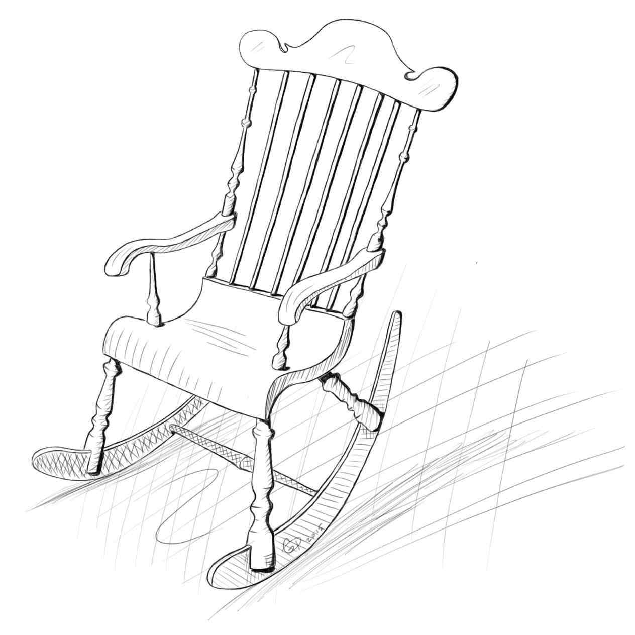 1264x1264 Incredible The Collection Of In Color Clipart Rocking Chair