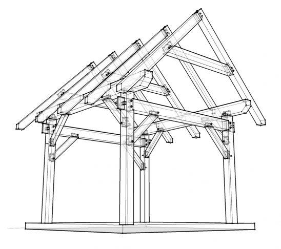 548x486 Plans Porch Framing Plans