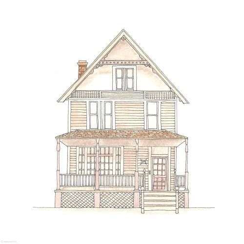 500x500 146 Best Rebecca Horne Images On House Drawing, House