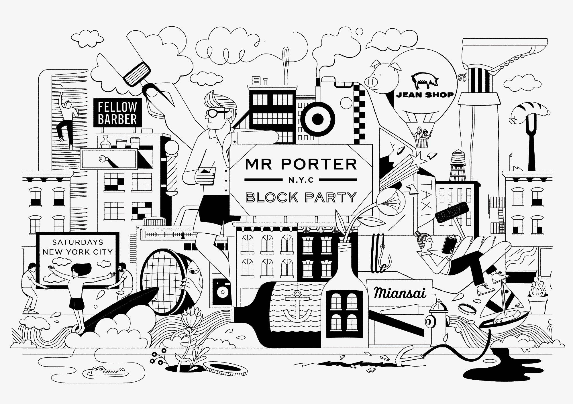 2000x1411 Mr Porter Block Party By Christopher Delorenzo Agent Pekka