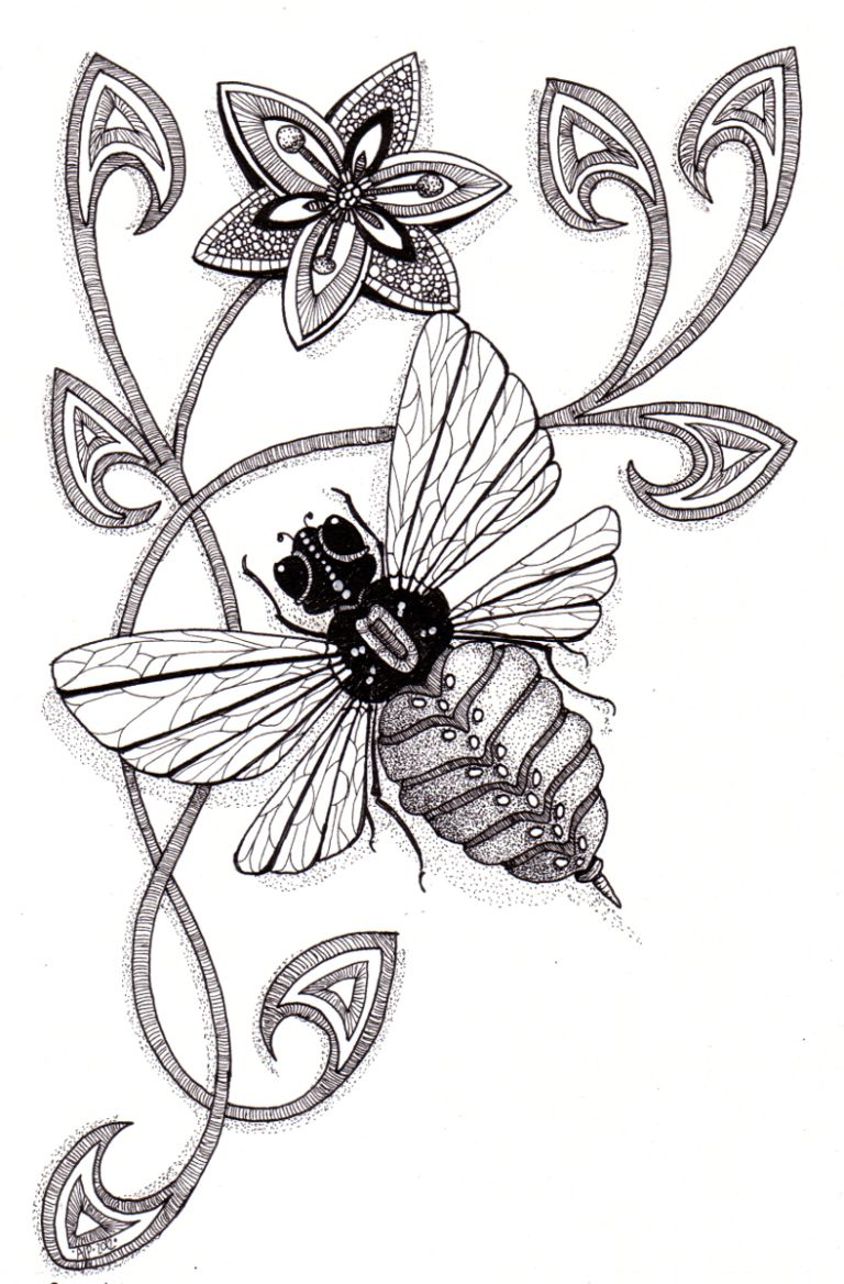 768x1168 Bee Natural Angela Porter 2012 Coloring Bees