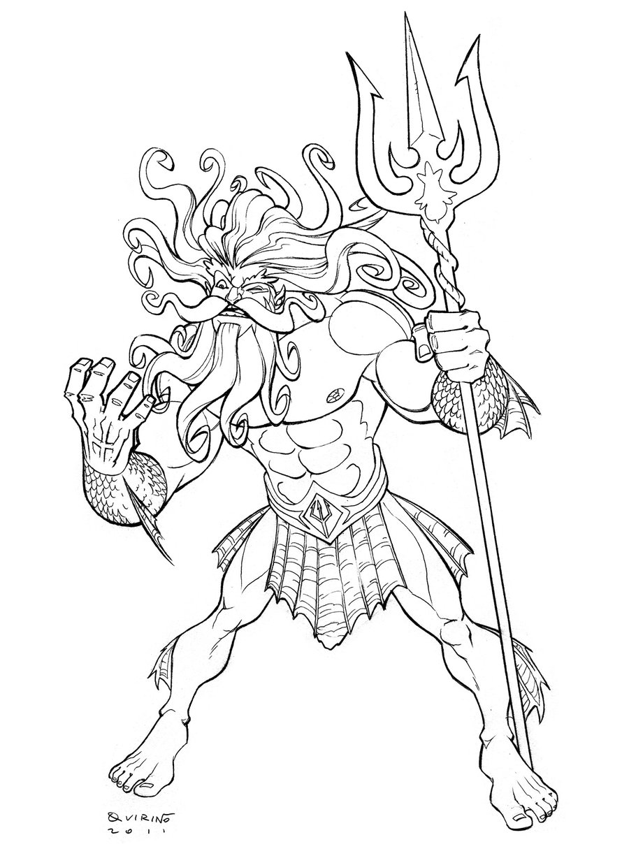 Search For Poseidon Drawing At Getdrawings Com