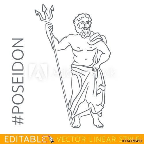 Poseidon Greek God Drawing At Getdrawings Com Free For