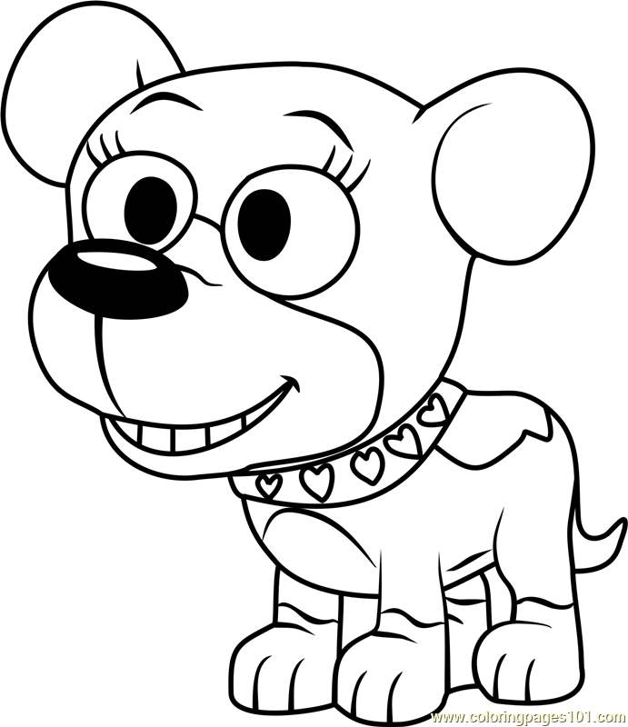 691x800 Pound Puppies Cupcake Coloring Page