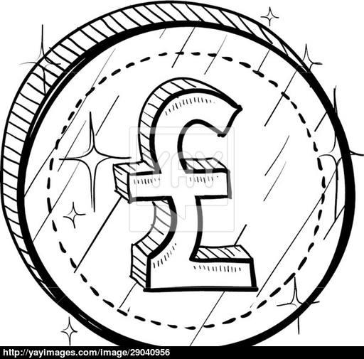 512x505 British Pound Vector Sketch Vector