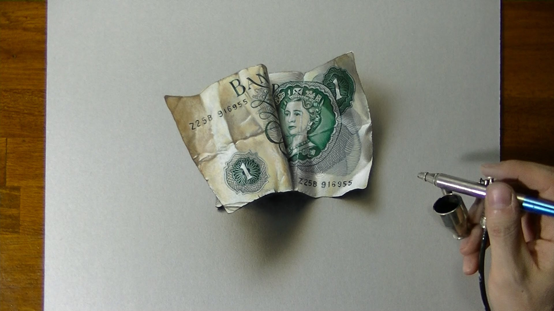 1920x1080 Drawing Time Lapse How To Draw An Old One Pound Note
