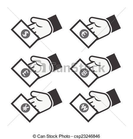 450x470 Hand With Money Icon