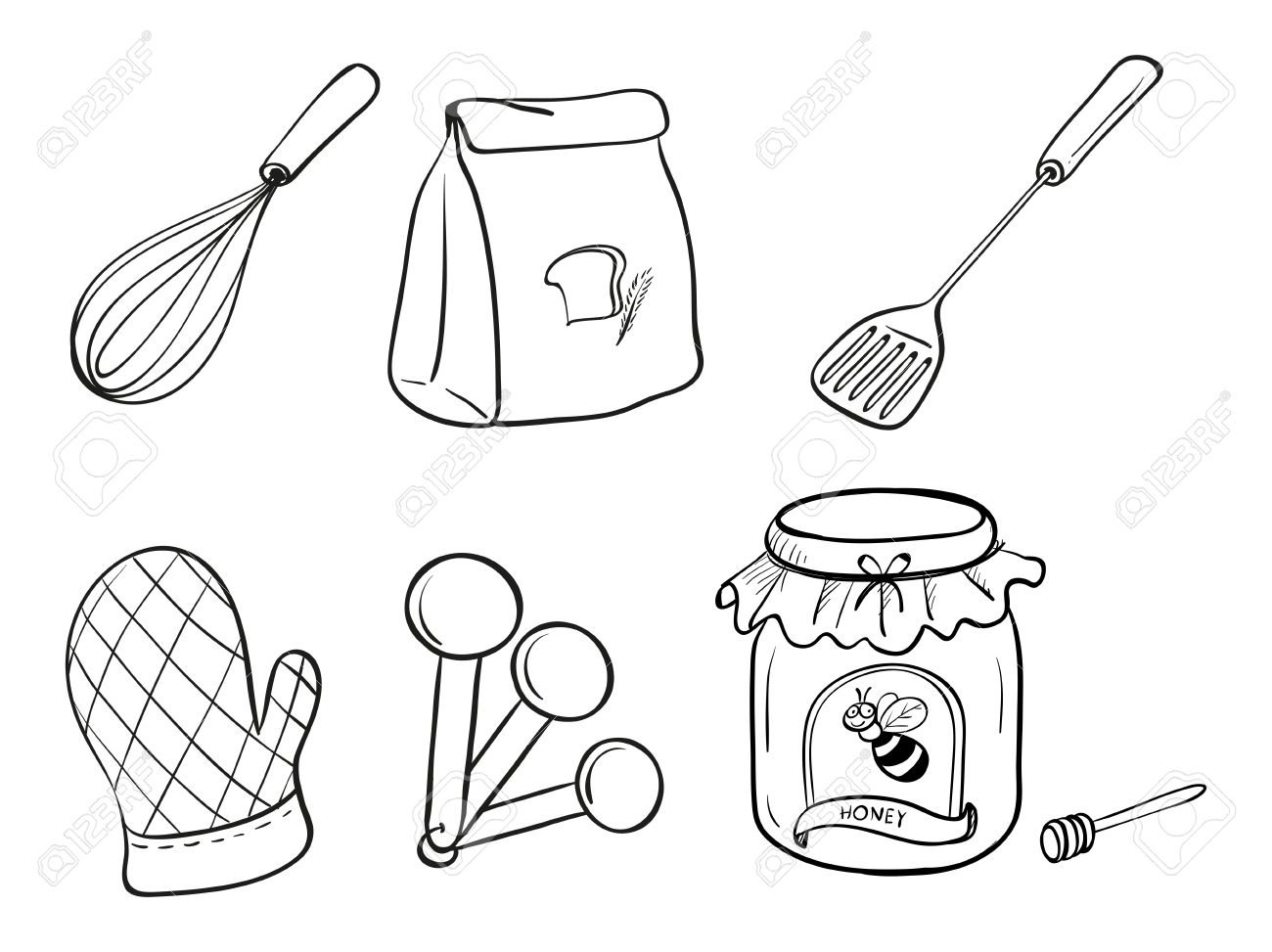 1300x973 Utensils Clipart Draw ~ Frames ~ Illustrations ~ Hd Images ~ Photo