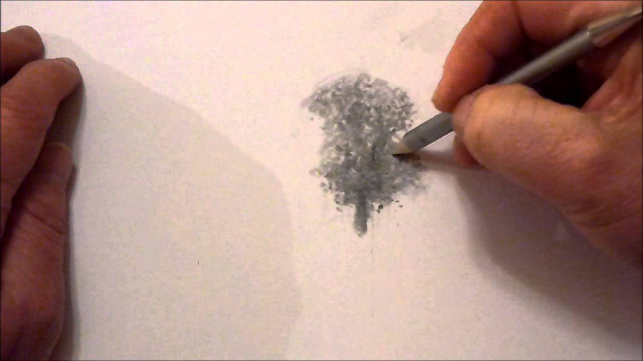 1280x720 How To Draw Trees With Graphite Powder And Pencils
