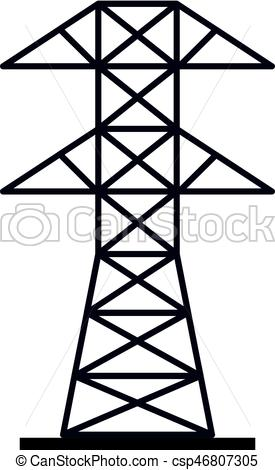 275x470 Electric Power Station Icon Isolated. Electric Power Station