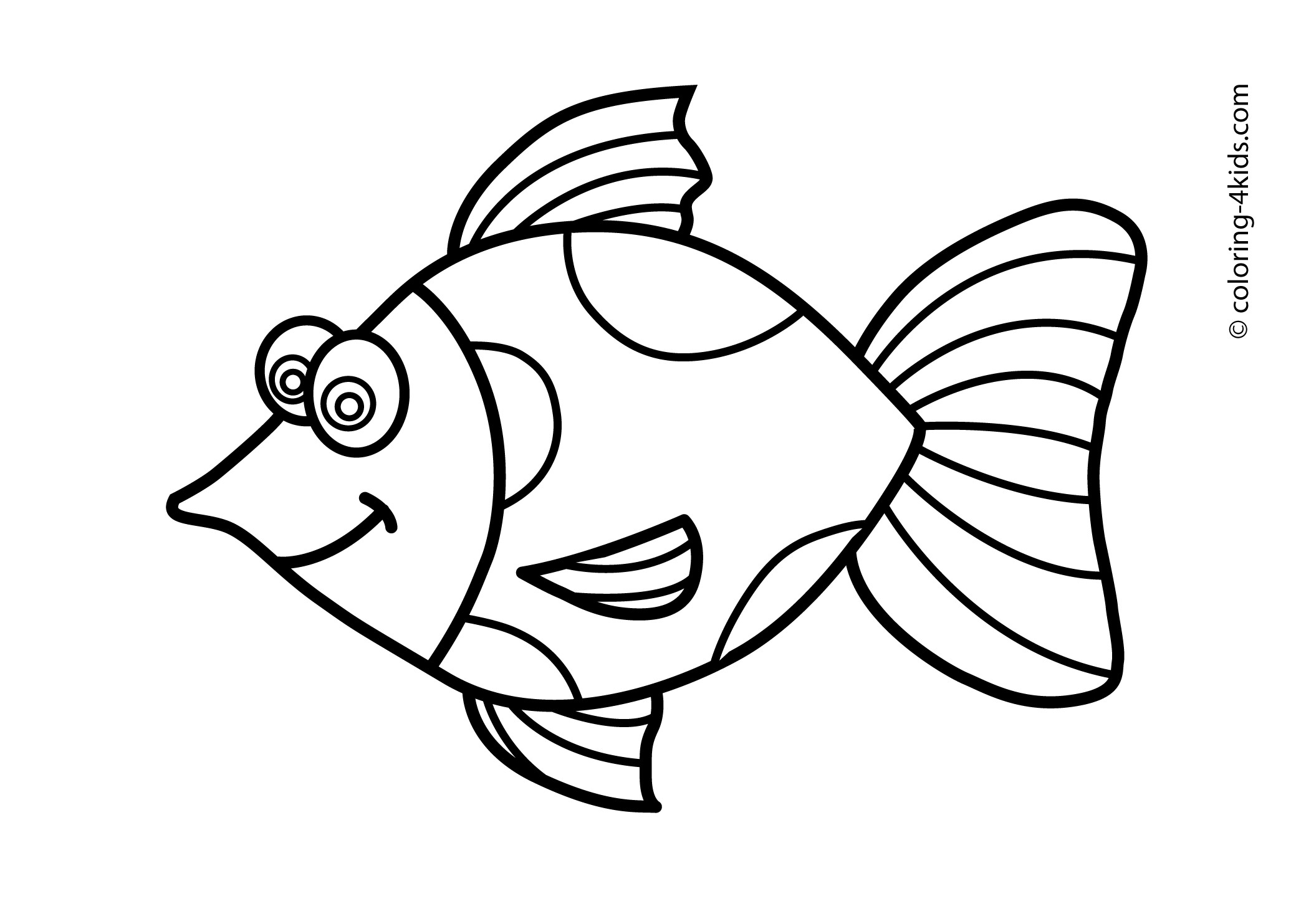2079x1483 Fish Drawing For Kids