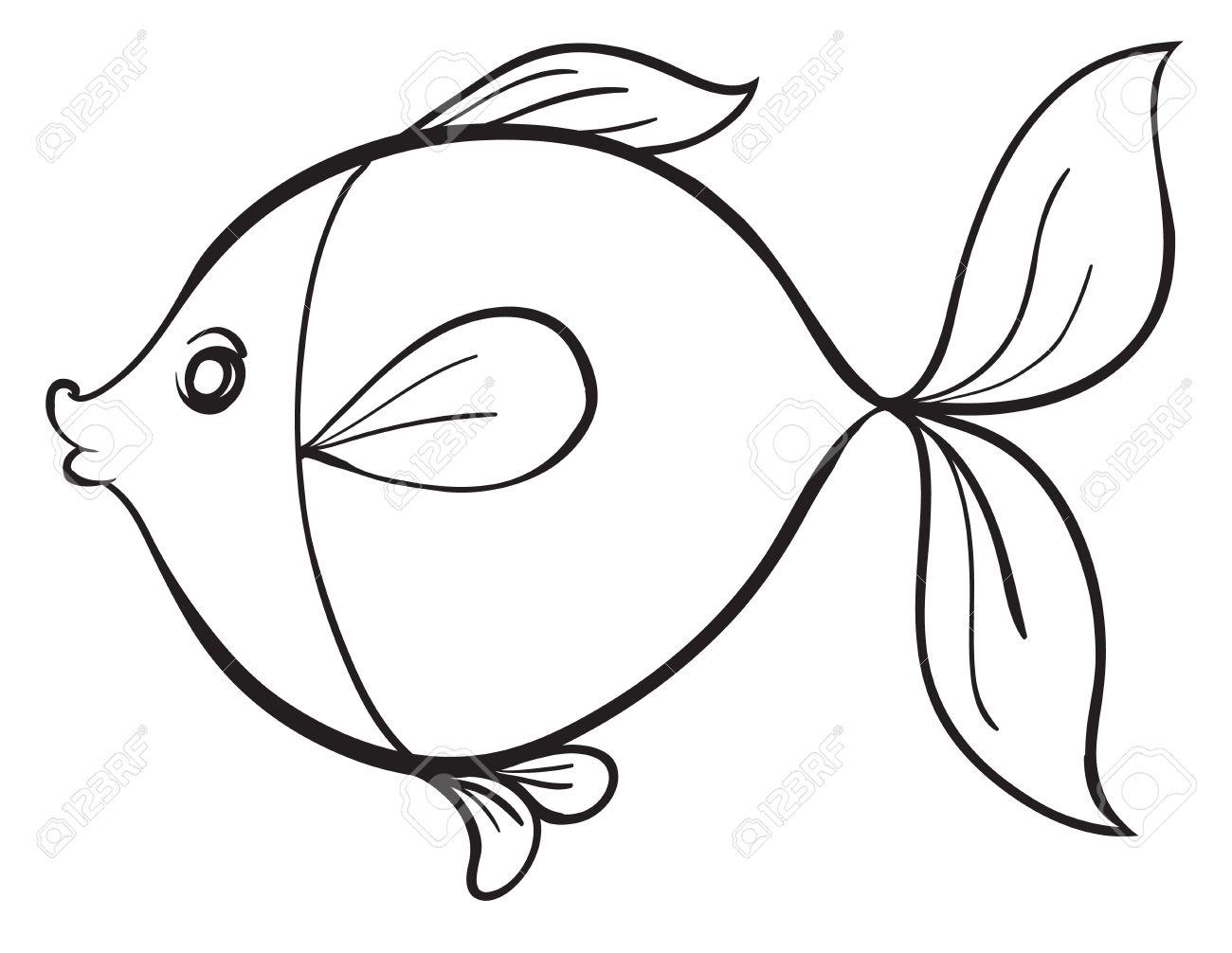 1300x1006 Fish Line Art Preschool Photos Of Pretty Fish Line Art 10 17669