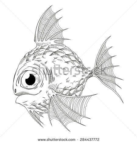 450x470 Cute Fish Art Fish, Japan And Zentangles
