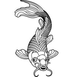 236x248 Koi Fish Drawing Outline