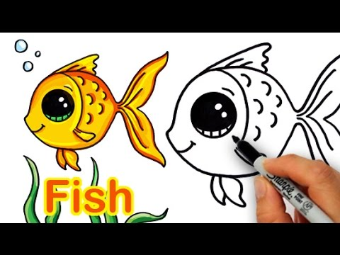 480x360 How To Draw A Cartoon Fish Cute And Easy