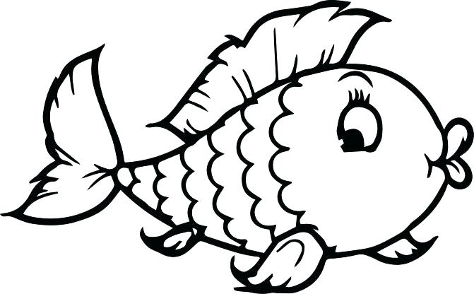 671x416 Cute Fish Coloring Pages Fish Coloring Picture Medium Size