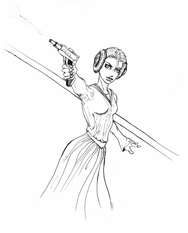 600x744 Princess Leia Coloring Pages Free Star Wars To Print Fresh
