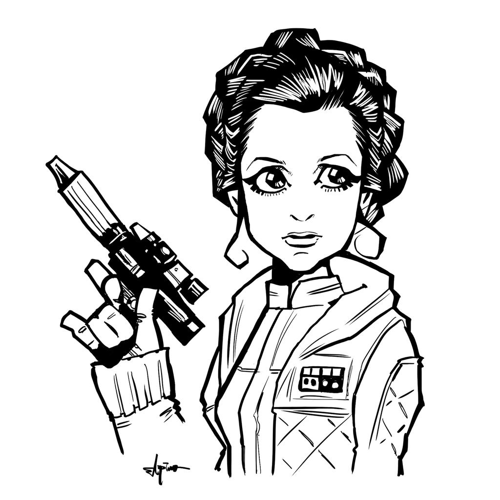 1024x1024 Princess Leia By Elpino0921