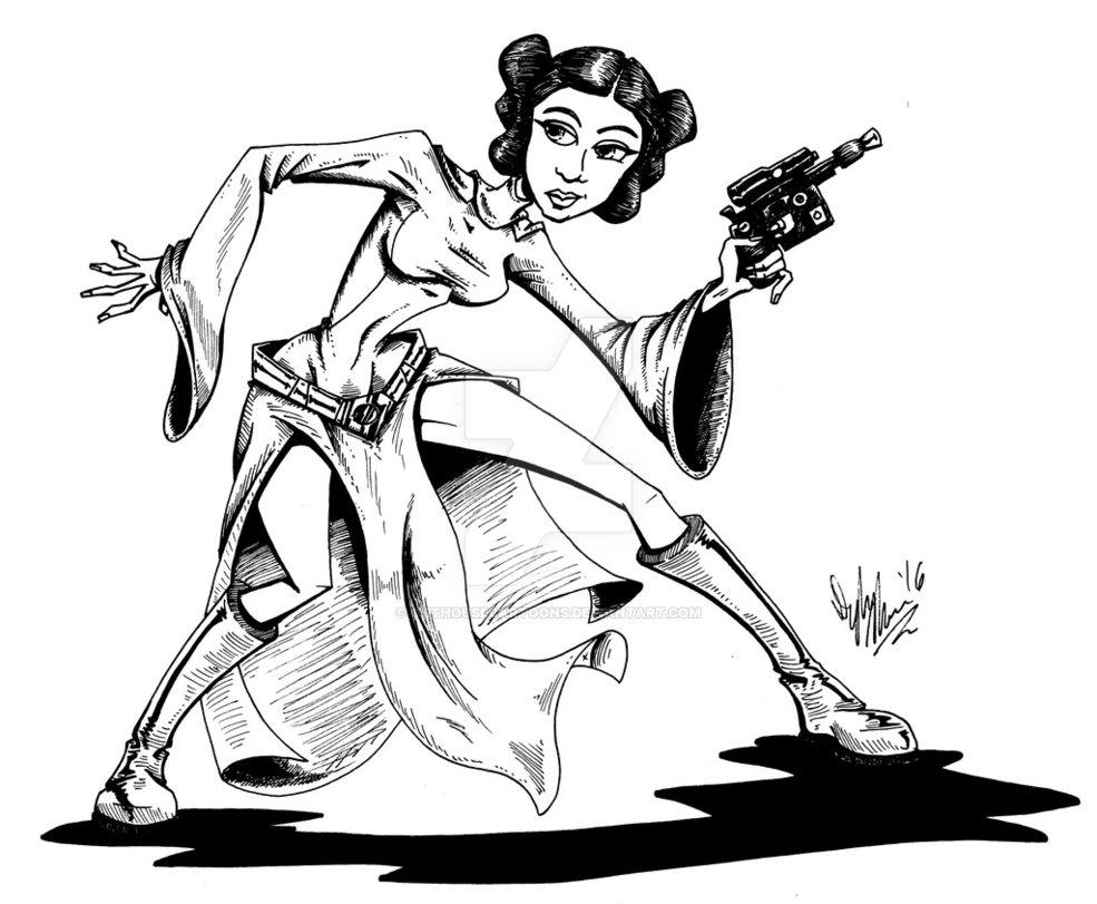 985x811 Princess Leia By Outhousecartoons