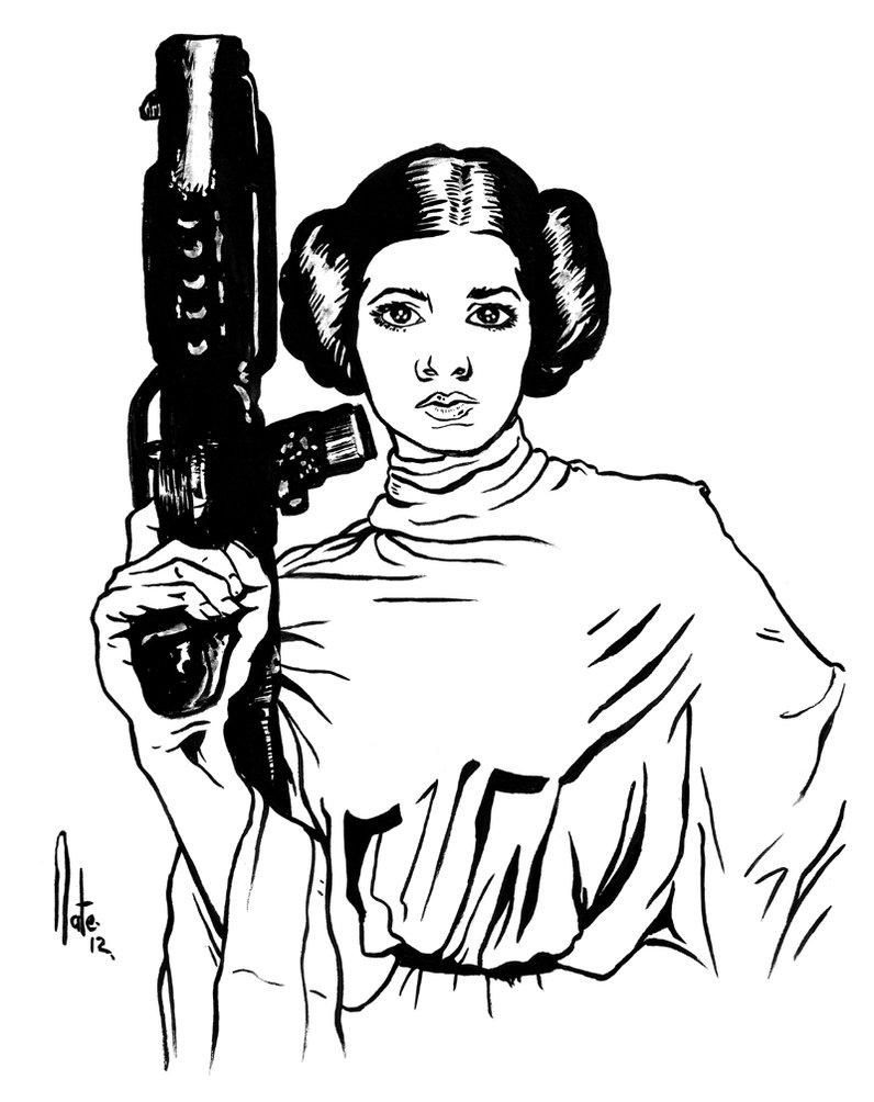 796x1004 Princess Leia By Natelyon