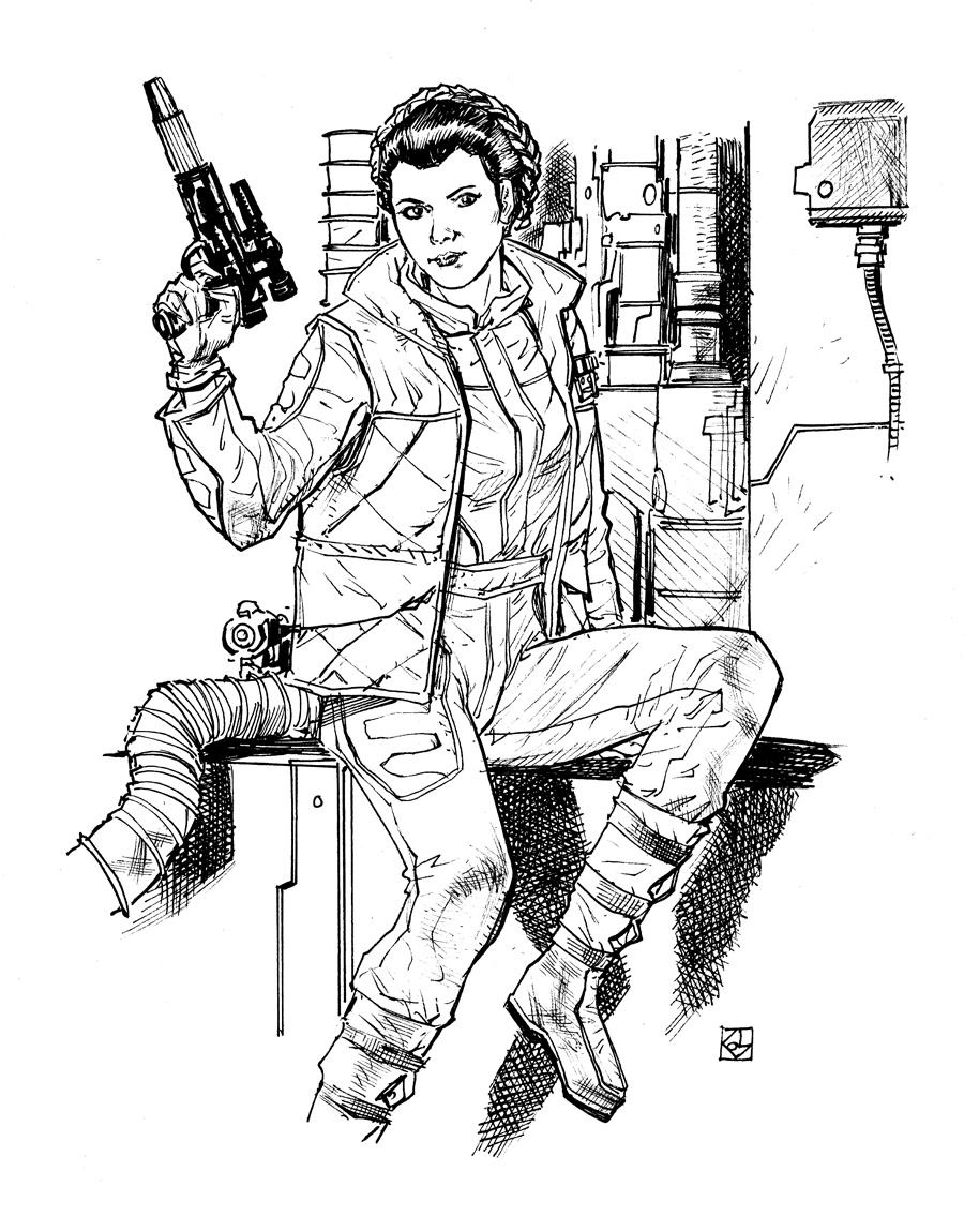 900x1150 Star Wars Princess Leia Dean Kotz