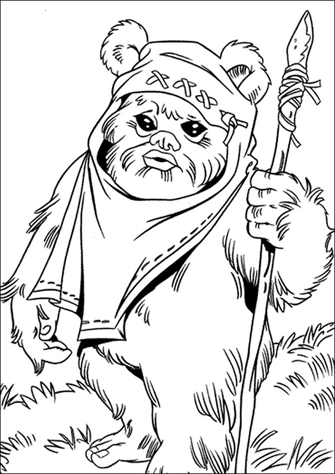 672x950 Star Wars Princess Leia Coloring Pages Ewok And Leia Colouring