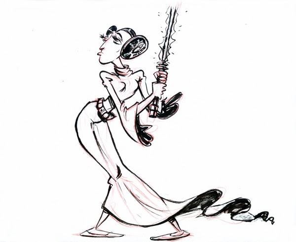600x490 Fish Head Sketch Blog Princess Leia