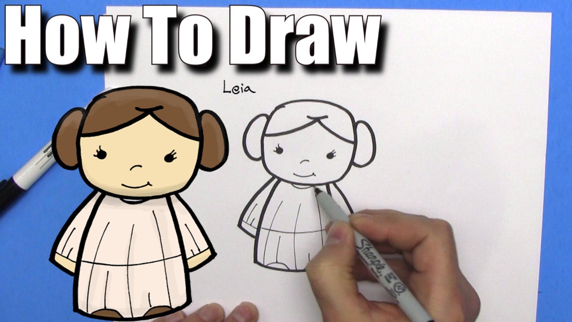 1920x1080 How To Draw Cute Cartoon Princess Leia