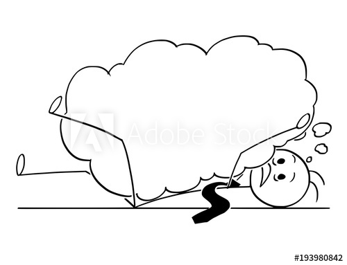 500x383 Cartoon Stick Man Drawing Conceptual Illustration Of Businessman