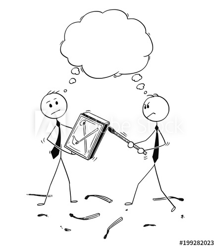 438x500 Cartoon Stick Man Drawing Conceptual Illustration Of Two
