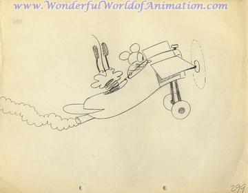 360x280 Disney Studios Production Drawing Animation Art Production Drawing