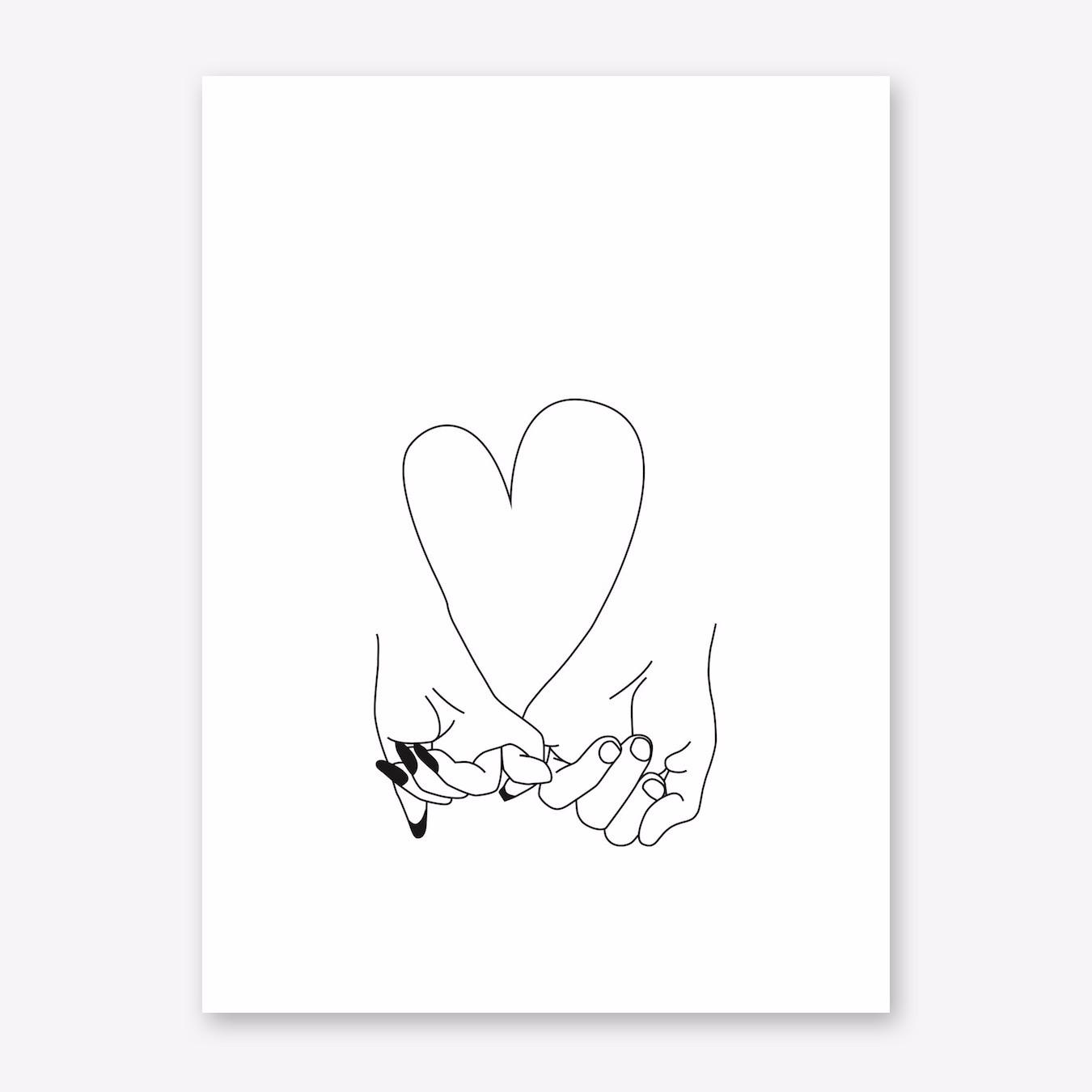 1350x1350 Pinky Promise Art Print By Honeymoon Hotel