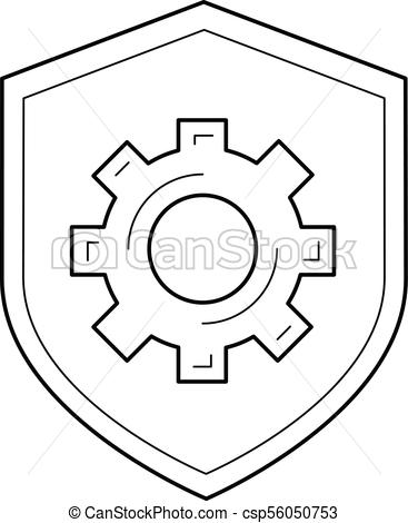367x470 Data Protection Line Icon. Data Protection Vector Line Icon