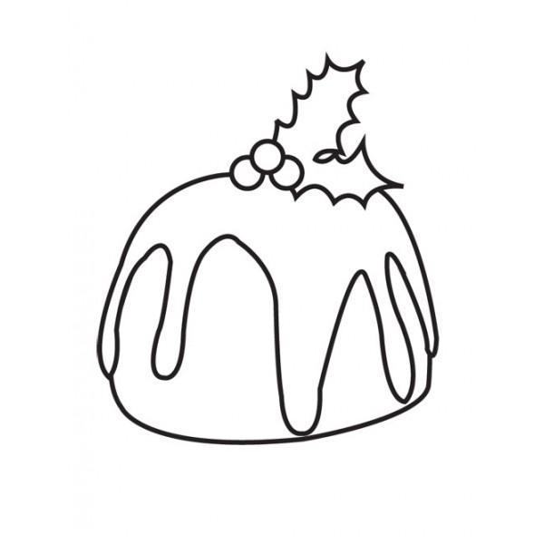 600x600 Collection Of Xmas Pudding Drawing High Quality, Free