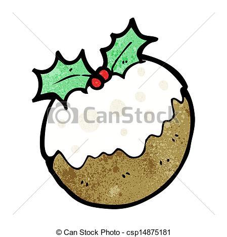 449x470 Cartoon Christmas Pudding Vector