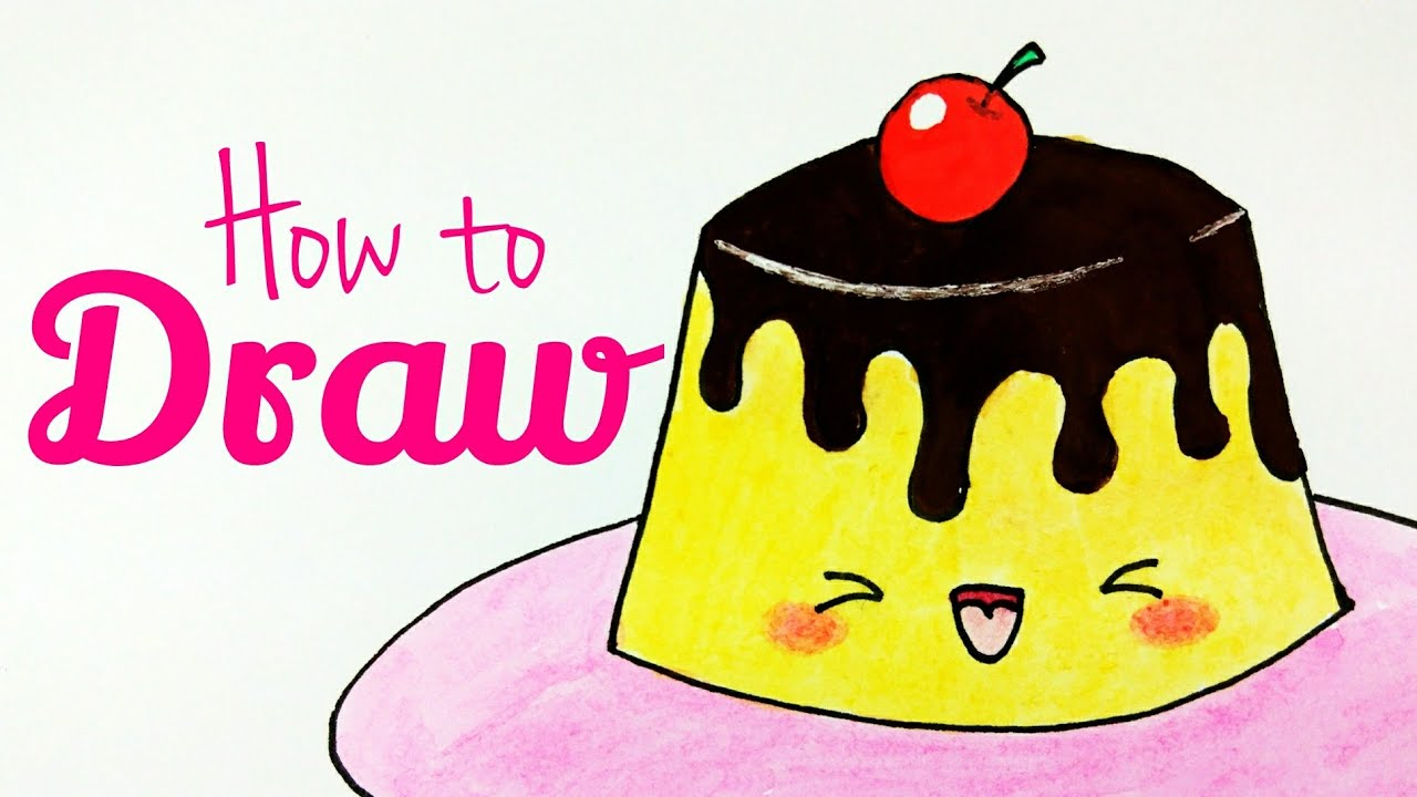 1280x720 How To Draw Pudding Cute Amp Easy Pudding Drawing Tutorial