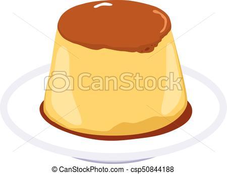 450x346 Illustration Of Flan Caramel Pudding Dessert With Soft Vector