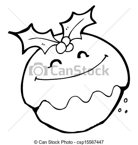 450x470 Cartoon Christmas Pudding Drawing